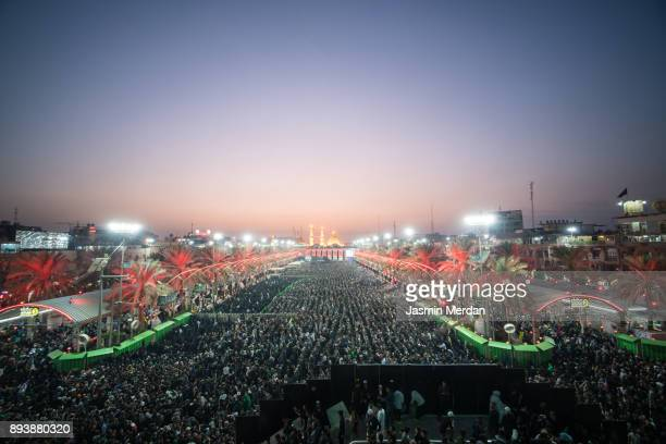 millions of pilgrims in karbala shrine, iraq - pilgrimage stock pictures, royalty-free photos & images