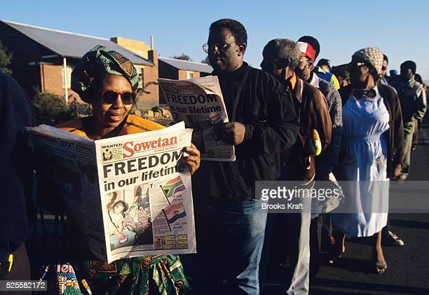 Millions of South Africans voted in the nation's first free and democratic general election, marking the end of centuries of apartheid rule. Nelson...