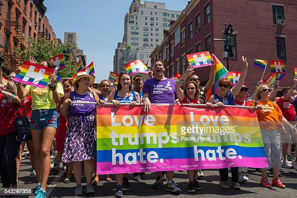Millions of spectators lined the streets of Manhattan to view over 400 entries participating in the 46th Annual Heritage of Pride March in New York...