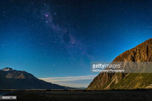 Millions of stars over the Mt. Cook National Park