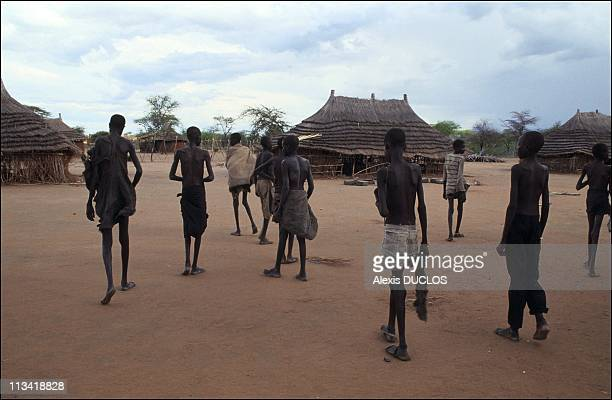 Millions of Sudanese are threatened by famine On April 24th 1991 In Sudan Displaced Persons Here In Kidepo Are Making Their Way By Foot From Areas...