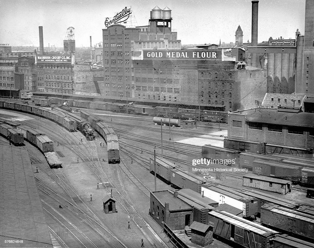 Mills and Railroad Yard : News Photo