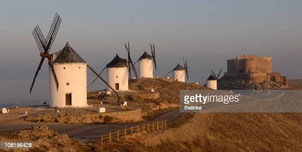 mills of consuegra - old windmill stock photos and pictures