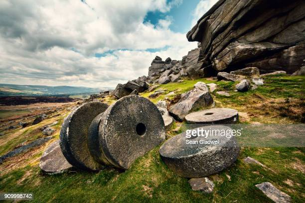 Millstone wheels at Stanage Edge