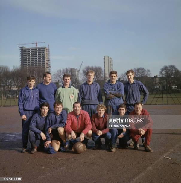 Millwall Football Club group photo including Doug Baker Bobby Hunt Len Julians Lawrie Leslie Brian Snowdon and Alan Willey UK 23rd January 1967