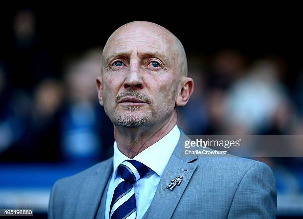 Millwall manager Ian Holloway during the Sky Bet Championship match between Millwall and Norwich City at The Den on March 07 2015 in London England