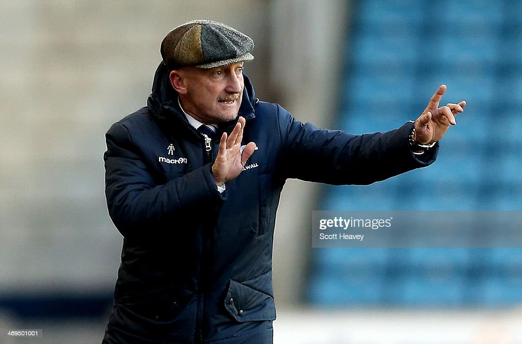 Millwall manager Ian Holloway during the Sky Bet Championship match between Millwall and Bolton Wanderers at The Den on February 15, 2014 in London, England.