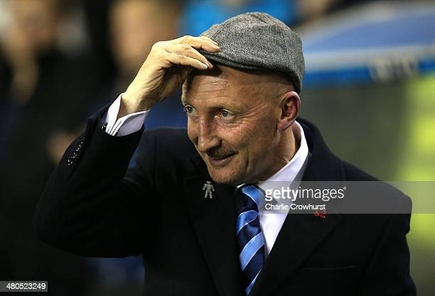 Millwall manager Ian Holloway during the Sky Bet Championship match between Millwall and Birmingham City at The Den on March 25 2014 in London England