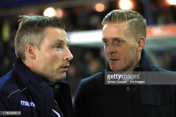 Millwall manager Neil Harris and Birmingham City manager Garry Monk ahead of the match during the Sky Bet Championship match at St Andrew's Trillion...