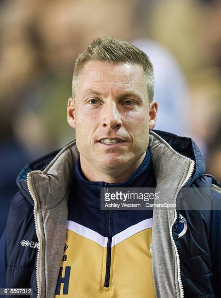 Millwall manager Neil Harris during the Sky Bet League One match between Millwall and Bolton Wanderers at The Den on October 18 2016 in London England