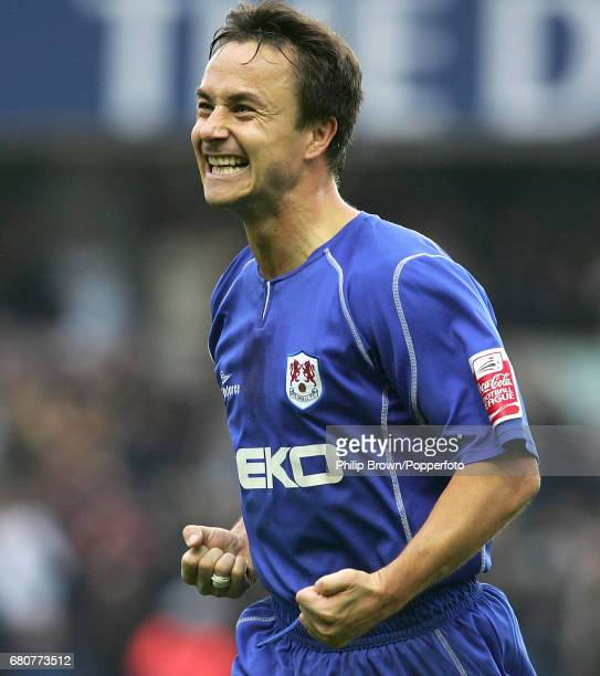 Millwall Player Dennis Wise celebrates Millwall's goal during the Coca Cola League Championship match between Millwall and West Ham United at The New...