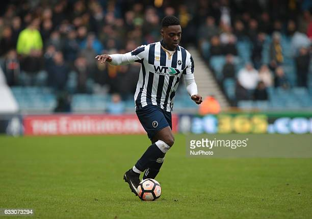 Millwall's Fred Onyedinma during The Emirates FA Cup Fourth Round match between Millwall against Watford at The Den on 29th Jan 2017