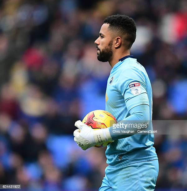 Millwall's Jordan Archer during the Sky Bet League One match between Bolton Wanderers and Millwall at Macron Stadium on November 19 2016 in Bolton...