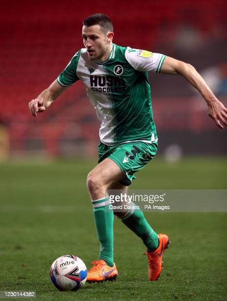 Millwall's Murray Wallace during the Sky Bet Championship match at Ashton Gate, Bristol.
