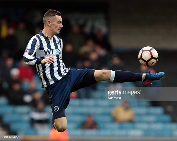 Millwall's Shaun Williams during The Emirates FA Cup Fourth Round match between Millwall against Watford at The Den on 29th Jan 2017
