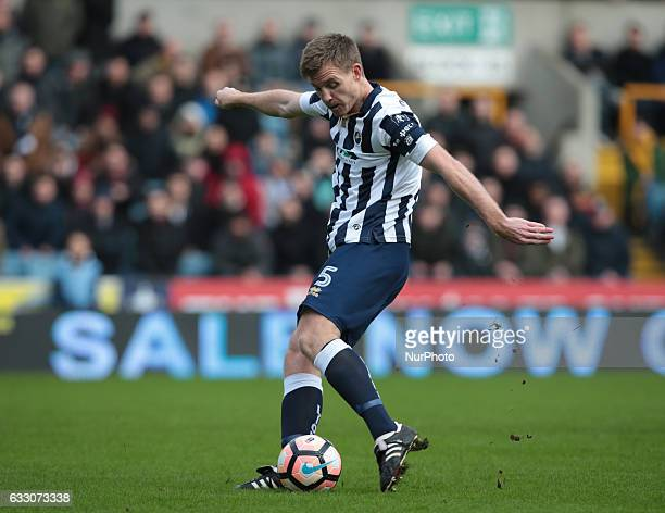 Millwall's Tony Craig during The Emirates FA Cup Fourth Round match between Millwall against Watford at The Den on 29th Jan 2017
