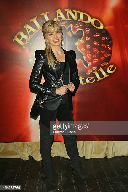 Milly Carlucci attends the 'Ballando con le stelle' 100th Episode Party at La Villa on December 9 2013 in Rome Italy