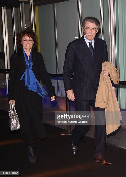 Milly Moratti and Massimo Moratti attend the Fundaction Privada Samuel Eto'o Charity Event Red Carpet on March 17 2011 in Milan Italy