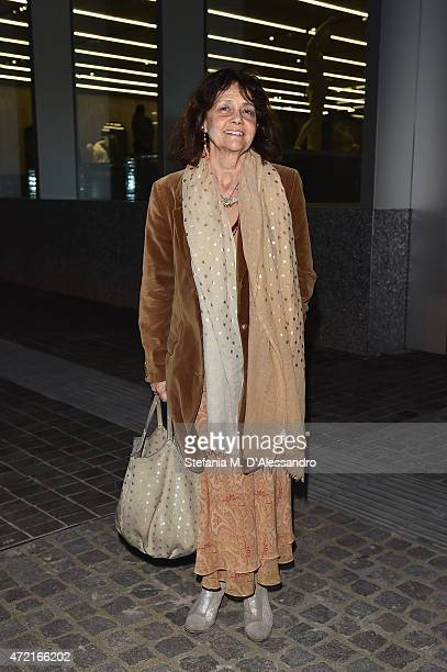 Milly Moratti attends the Fondazione Prada Opening on May 4 2015 in Milan Italy