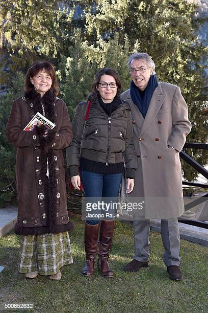 Milly Moratti Celeste Moratti and Massimo Moratti attend the 25th Courmayeur Noir In Festival on December 10 2015 in Courmayeur Italy