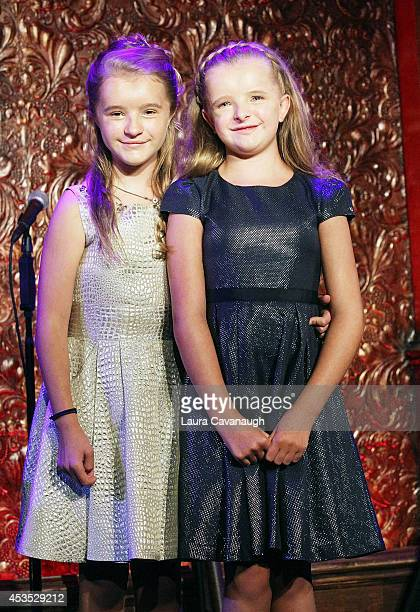 Milly Shapiro and Abigail Shapiro attend a press preview at 54 Below on August 12 2014 in New York City