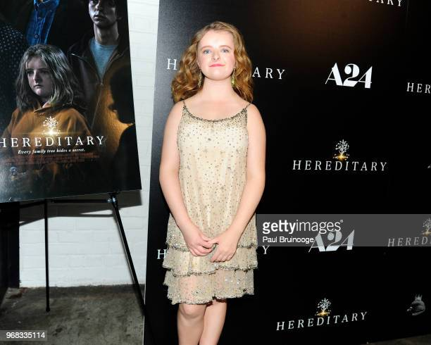 Milly Shapiro attends A24 Hosts A Screening Of Hereditary at Metrograph on June 5 2018 in New York City