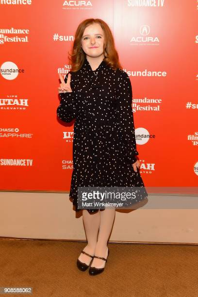 Milly Shapiro attends the Hereditary Premiere during the 2018 Sundance Film Festival at Egyptian Theatre on January 21 2018 in Park City Utah
