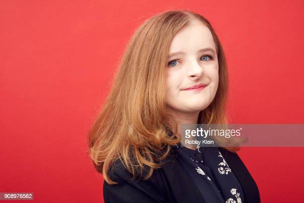 Milly Shapiro from the film 'Hereditary' poses for a portrait in the YouTube x Getty Images Portrait Studio at 2018 Sundance Film Festival on January...