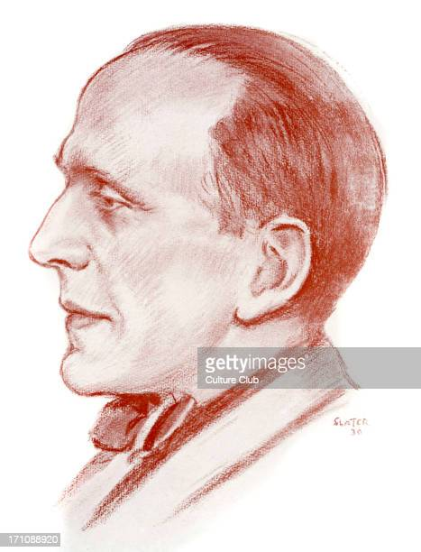 A A Milne English author playwright and creator of 'WinniethePooh' 18 January 1882 – 31 January 1956 Drawing by Frank E Slater made in 1930
