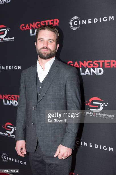 Milo Gibson attends the Premiere Of Cinedigm's 'Gangster Land' at the Egyptian Theatre on November 29 2017 in Hollywood California
