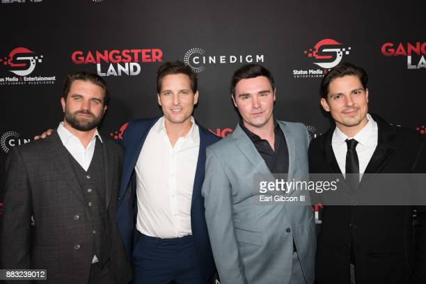 Milo Gibson Peter Facinelli Timothy Woodward Jr and Sean Faris attend the Premiere Of Cinedigm's 'Gangster Land' at the Egyptian Theatre on November...
