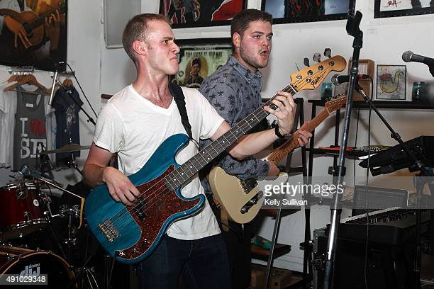 Milo Johnson and Louis Stein of Canadian band Busty and the Bass perform at DSF Clothing Company during the 2015 Culture Collide Festival on October...