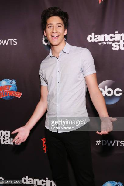 Milo Manheim attends Dancing With The Stars Season 27 Cast Reveal Red Carpet At Planet Hollywood Times Square at Planet Hollywood Times Square on...