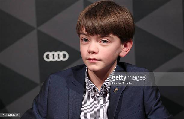 Milo Parker attends a QA for the film 'Mr Holmes' during the 65th Berlinale International Film Festival at the AUDI Lounge on February 8 2015 in...