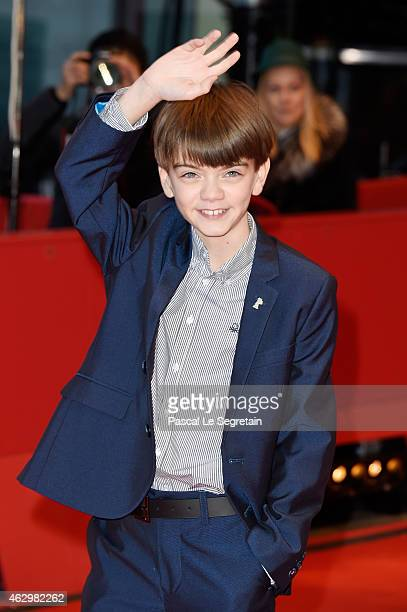 Milo Parker attends the 'Mr Holmes' premiere during the 65th Berlinale International Film Festival at Berlinale Palace on February 8 2015 in Berlin...
