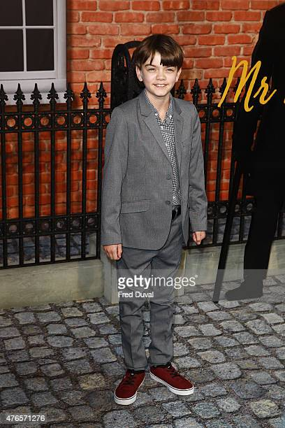 Milo Parker attends the UK Premiere of 'Mr Holmes' at ODEON Kensington on June 10 2015 in London England