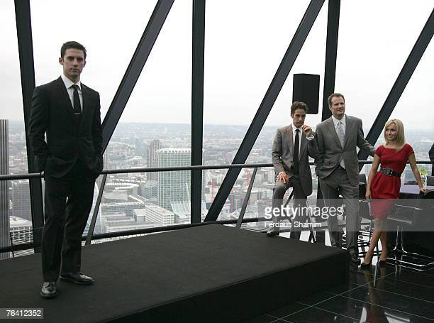 Milo Ventimigilia Adrian Pasdar Jack Coleman and Hayden Panettiere attend the Heroes Series 2 photocall on August 30 2007 in London England