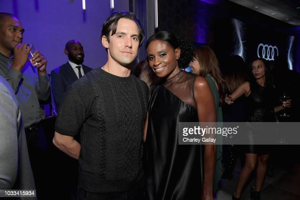 Milo Ventimiglia and Adina Porter attend the Audi preEmmy celebration at the La Peer Hotel in West Hollywood on Friday September 14 2018