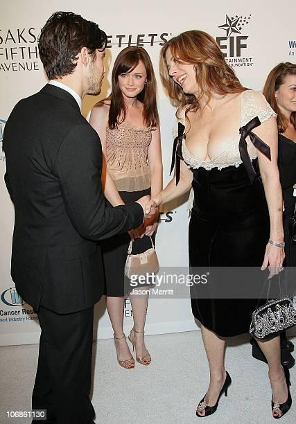 Milo Ventimiglia and Alexis Bledel with Rita Wilson