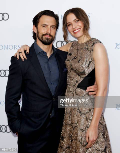 Milo Ventimiglia and Mandy Moore attend the 10th Annual Television Academy Honors at Montage Beverly Hills on June 8 2017 in Beverly Hills California