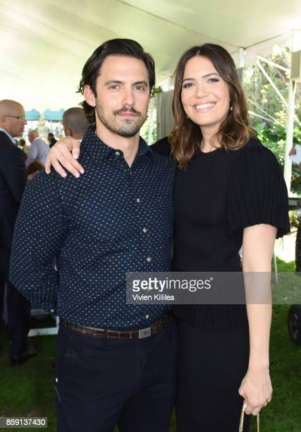 Milo Ventimiglia and Mandy Moore attend The Rape Foundation's Annual Brunch on October 8 2017 in Beverly Hills California