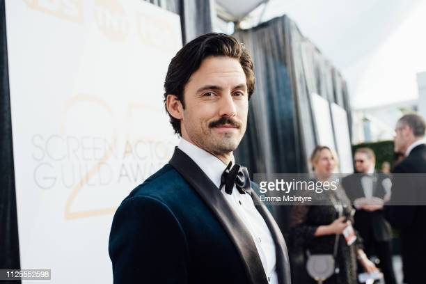 Milo Ventimiglia arrives at the 25th annual Screen Actors Guild Awards at The Shrine Auditorium on January 27 2019 in Los Angeles California
