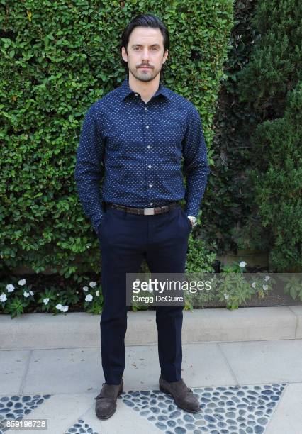 Milo Ventimiglia arrives at The Rape Foundation's Annual Brunch at a private residence on October 8 2017 in Los Angeles California