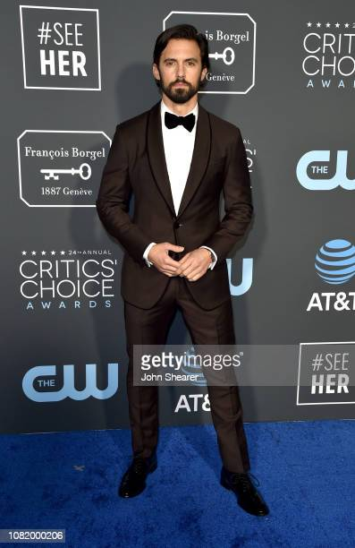 Milo Ventimiglia attends the 24th Annual Critics' Choice Awards at Barker Hangar on January 13 2019 in Santa Monica California