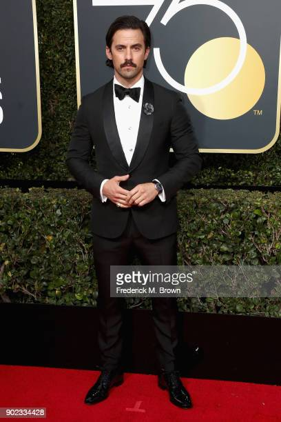 Milo Ventimiglia attends The 75th Annual Golden Globe Awards at The Beverly Hilton Hotel on January 7 2018 in Beverly Hills California