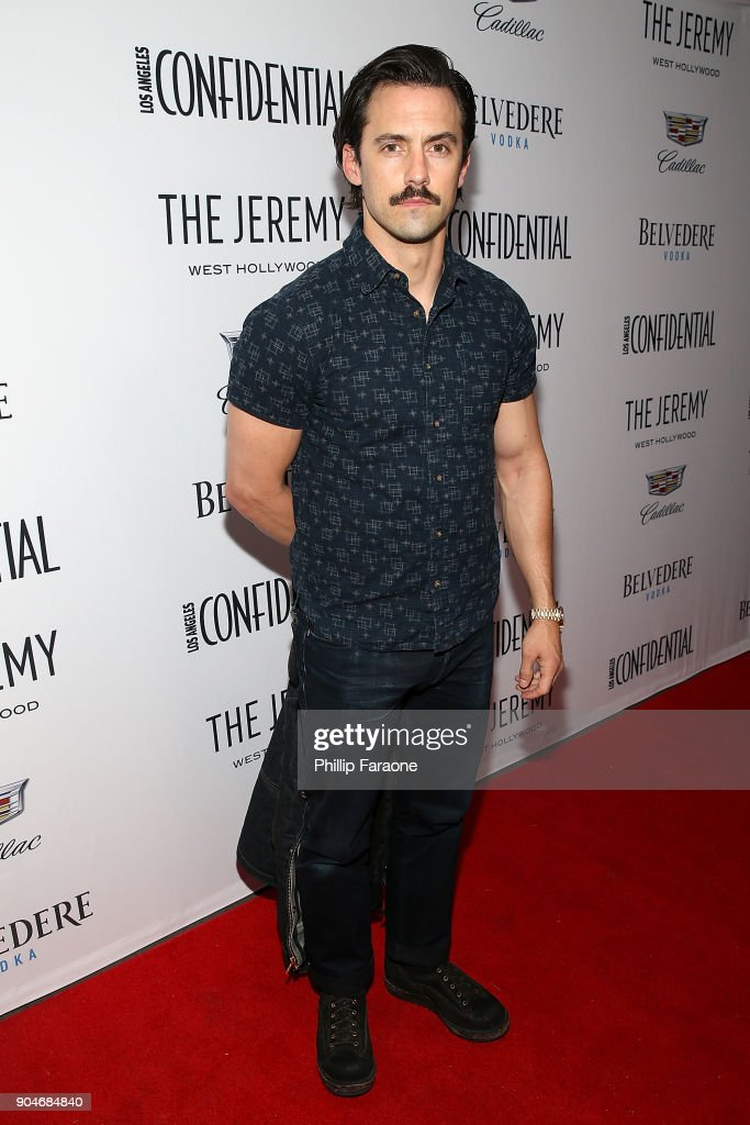 Milo Ventimiglia attends the Los Angeles Confidential, Alison Brie and Cadillac celebrate annual Awards Event with Belvedere Vodka at The Jeremy West Hollywood on January 13, 2018 in Los Angeles, California.