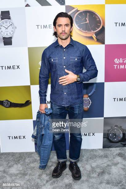 Milo Ventimiglia attends the We Are Timex Fall 2017 Collection launch at Lightbox on September 25 2017 in New York City