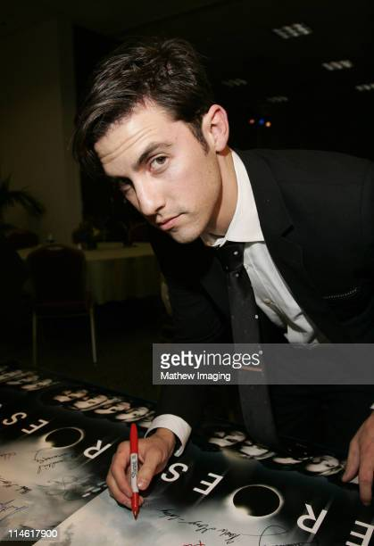"""Milo Ventimiglia during The Academy of Television Arts and Sciences Presents An Evening with """"Heroes"""" - VIP Reception at Leonard H. Goldenson Theatre..."""