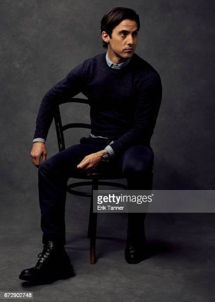 Milo Ventimiglia from 'Devil's Gate' poses at the 2017 Tribeca Film Festival portrait studio on April 24 2017 in New York City