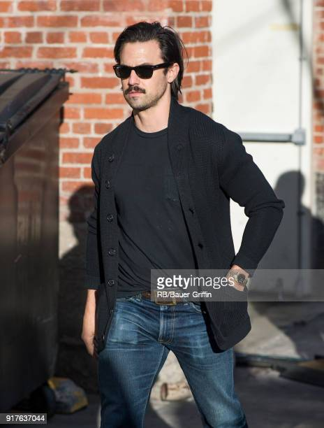 Milo Ventimiglia is seen at 'Jimmy Kimmel Live' on February 12 2018 in Los Angeles California
